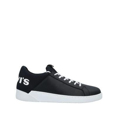 LEVI' S スニーカー&テニスシューズ(ローカット) ブラック 41 革 / 紡績繊維 スニーカー&テニスシューズ(ローカット)