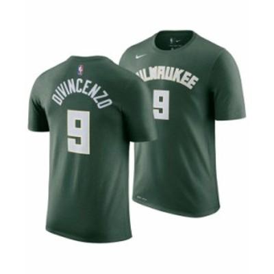 ナイキ メンズ Tシャツ トップス Men's Donte DiVincenzo Milwaukee Bucks Icon Player T-Shirt Green