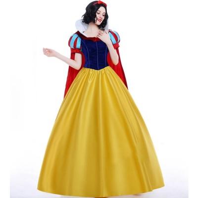 ハロウィン 白雪姫 コスプレ 大人用 スノーホワイト cosplay ロングドレス 女王 レディース 童話 プリンセス 姫様 princess 女性用 キャラクター 仮装 映画g29