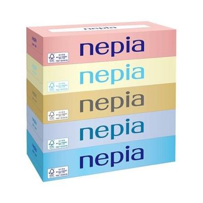 (まとめ)王子ネピア ネピアティシュ 150組/箱 BF150 1パック(5箱) 〔×10セット〕