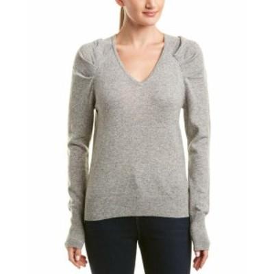 ファッション トップス White + Warren Wool & Cashmere-Blend Pleat Sleeve Pullover
