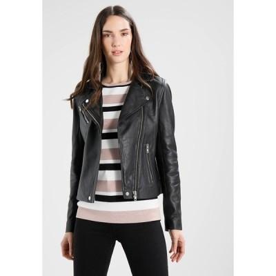サムスサムス ジャケット&ブルゾン レディース アウター Leather jacket - black