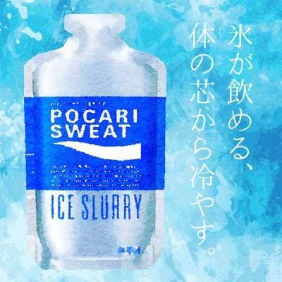 風邪などの体調不良時の栄養補給にも 大塚製薬 アイススラリー ポカリスエット 1ケース36個入り