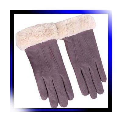 05:パープル 手袋 スウェード グローブ 秋冬 防寒 おしゃれ かわ