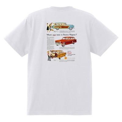 アドバタイジング フォード Tシャツ 白 1024 黒地へ変更可 1953 ランチワゴン ビクトリア オールディーズ ロカビリー ホットロッド