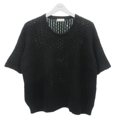 BALLSEY ワイドシルエット半袖ニット ブラック サイズ:F (明石店) 200830