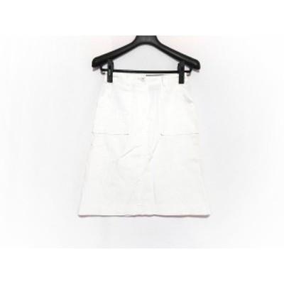 バーバリーブルーレーベル Burberry Blue Label スカート サイズ38 M レディース 白【還元祭対象】【中古】20200327