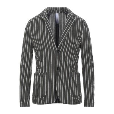 DISTRETTO 12 テーラードジャケット ミリタリーグリーン 50 コットン 63% / ポリエステル 37% テーラードジャケット