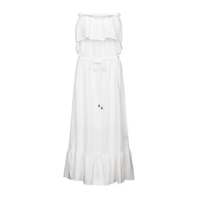 FISICO ロングワンピース&ドレス ホワイト M シルク 52% / コットン 48% ロングワンピース&ドレス
