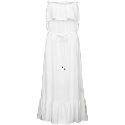 FISICO ロングワンピース&ドレス ホワイト S シルク 52% / コットン 48% ロングワンピース&ドレス