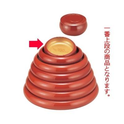 寿司 寿冠鉢色紙金箔外朱6寸 [17.5φ x 5.5cm] ABS樹脂 (7-458-3) 料亭 旅館 和食器 飲食店 業務用