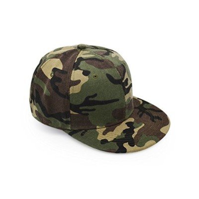 UltraKey Flat Brim Cap Army Military Camo Baseball Cap Camouflage Hip Hop F