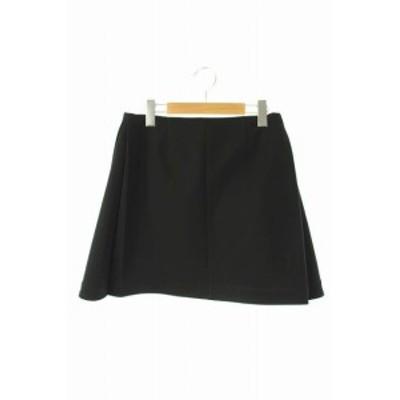 【中古】ミューズ ドゥーズィエムクラス スカート ミニ 台形 サイドタック 36 黒 ブラック /ES ■OS レディース