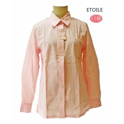 昭和レトロ 長袖ブラウス 11号 ピンク 刺繍 エトワール海渡 レディースファッション 60年代70年代