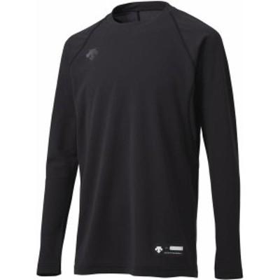 デサント ヤキュウソフト ジュニア丸首長袖アンダーシャツ 20SS ブラック アンダーシャツ(jstd771-blk)