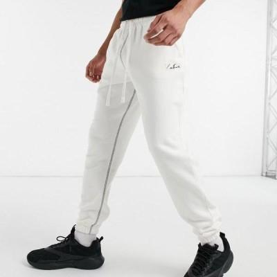 ザクチュールクラブ  The Couture Club オフホワイト  ポケット シグネチャー ジョガー パンツ