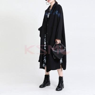 レディース 2021年春の新しいファッション ブロガースタイルのスーツ ジャケット気質ルーズで薄いプリントロングマッチングスーツの女性 20代30代40代