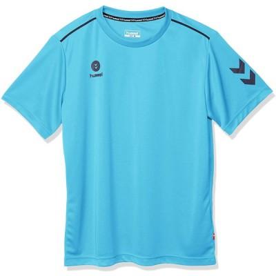 [ヒュンメル] 半袖シャツ ワンポイント メンズ ライトブルー (67) 日本 M (日本サイズM相当)