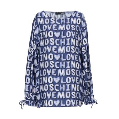 ラブ モスキーノ LOVE MOSCHINO ブラウス ブルー 38 レーヨン 100% ブラウス
