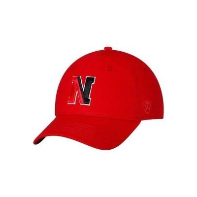 大学 NCAA トップオブザワールド Top of the World Northeastern Huskies Red Strike Unstructured Adjustable Hat