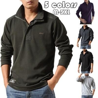 ポロシャツ メンズ トップス 大きいサイズ 長袖 ファッション 2020 トレンド ゴルフウェア お