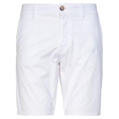 ゲス GUESS バミューダパンツ ホワイト 31 コットン 95% / ポリウレタン® 5% バミューダパンツ