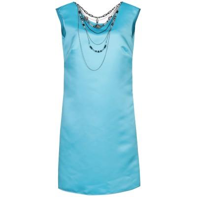 LANACAPRINA ミニワンピース&ドレス スカイブルー 42 ポリエステル 80% / コットン 20% ミニワンピース&ドレス