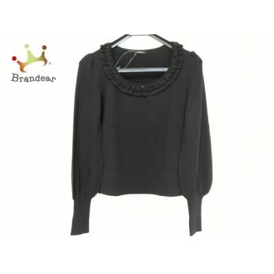 コトゥー COTOO 長袖セーター サイズ38 M レディース - 黒 クルーネック/ビーズ/ビジュー/フリル   スペシャル特価 20210319