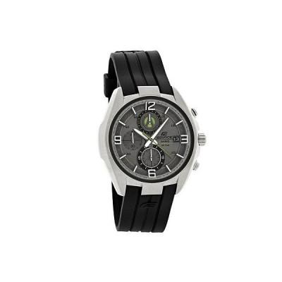 腕時計 カシオ Casio Edifice メンズ グレー グリーン ダイヤル クロノグラフ ブラック ラバー 腕時計 EFR529-7A