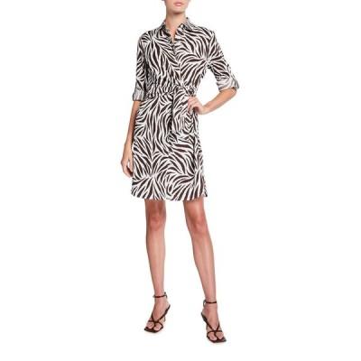 フィンレイ レディース ワンピース トップス Raleigh Zebra Print Dress