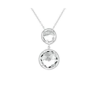レディース アクセサリー  Genevive Silver White Quartz Necklace
