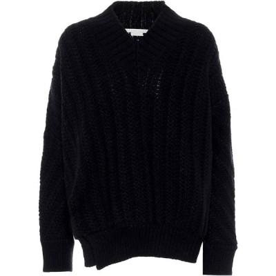 ステラ マッカートニー Stella McCartney レディース ニット・セーター トップス Cable-Knit Wool-Blend Sweater Midnight