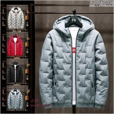 防寒着 中綿ジャケット メンズ フード付きジャケット 無地 秋冬 2020 通学 冬服 メンズファッション ブルゾン 通勤 おしゃれ 保温