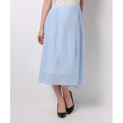 LA JOCONDE/ラ ジョコンダ アイリッシュリネン ギャザースカート ブルー 38