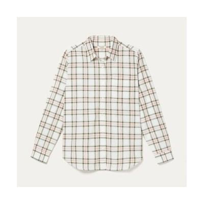 AIGLE/エーグル DFT 長袖チェックシャツ ホワイト 36(S)