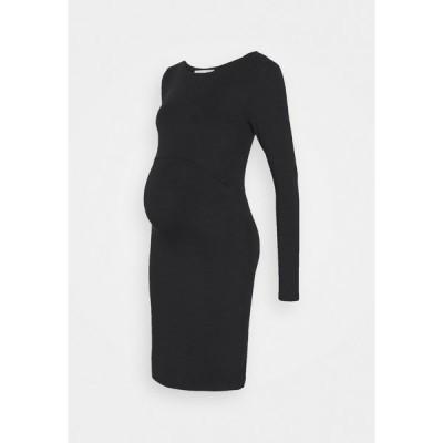 アンナ フィールド ママ ワンピース レディース トップス NURSING FUNCTION dress - Jersey dress - black