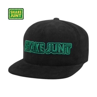 シェイクジャント SHAKE JUNT スケボー キャップ STRETCH LOGO SNAPBACK HAT ブラック x グリーン NO5