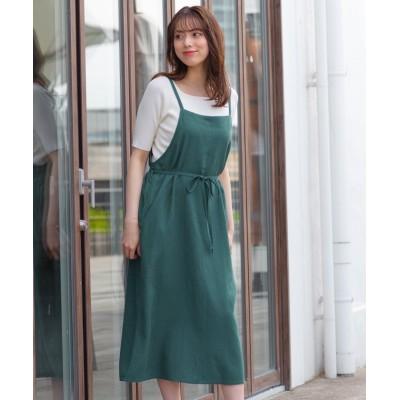 【ハニーズ】 ジャンパースカート レディース グリーン L Honeys