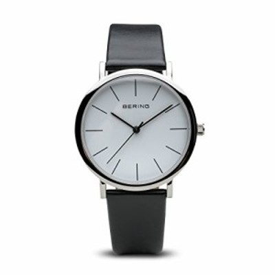 Bering Time 13436???404?Classic Collection Watch with Calfskin Band and scratch resistantサファイアクリスタル。デンマークの設?