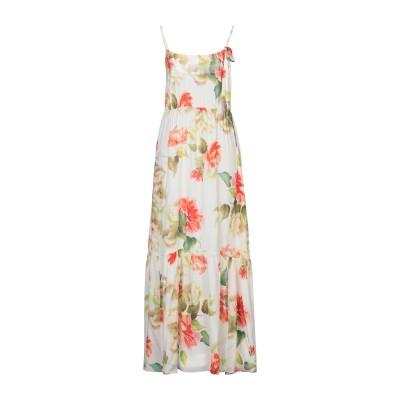 カルラ ジー CARLA G. ロングワンピース&ドレス ビタミングリーン 40 レーヨン 100% ロングワンピース&ドレス