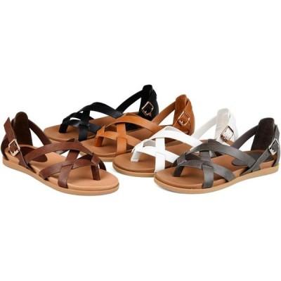 レディース 靴 サンダル Brinley Co. Womens Cuffed Ankle Gladiator Sandal