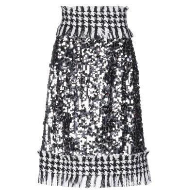 ドルチェ & ガッバーナ DOLCE & GABBANA ひざ丈スカート スチールグレー 42 ポリエステル 80% / ウール 16% / モヘヤ