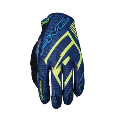 FIVE MXF PRORIDER S GREEN WATER/FLUO YELLOW オフロードグローブ