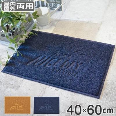 玄関マット 40×60cm 屋外 屋内 両用 ナイスデイ 泥落としマット ( 玄関 マット 泥落とし 洗える )