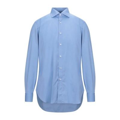 BURINI シャツ パステルブルー 38 コットン 100% シャツ