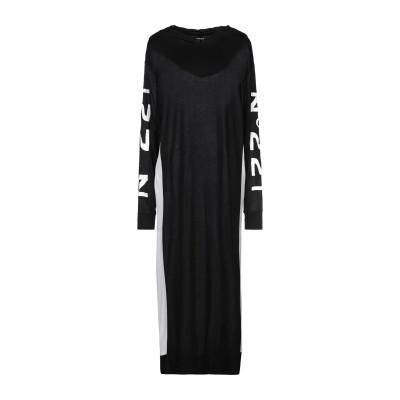 ファイブプレビュー 5PREVIEW 7分丈ワンピース・ドレス ブラック XS レーヨン 100% 7分丈ワンピース・ドレス