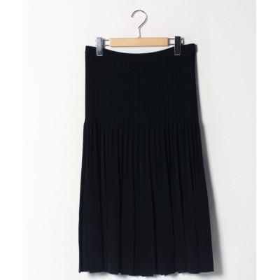 (GUEST JOCONDE/ゲスト ジョコンダ)【大きいサイズ】プリーツニットスカート/レディース ブラック