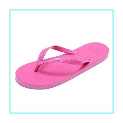 Girls Flip Flops 2020 Summer Women's Flat Sandals Slip On Comfortable Shower Water Bathroom Home Slippers Shoes Hot Pink【並行輸入品】