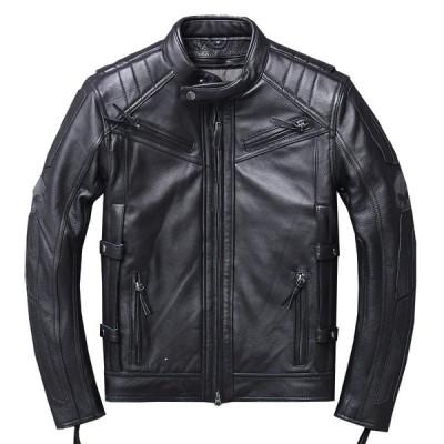 本革 メンズ ブラック ライダースジャケット レザージャケット 革ジャケット ジャケット 高級牛革 冬