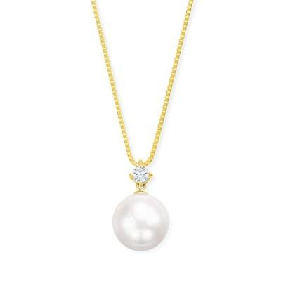 K18イエローゴールドアコヤ真珠ネックレス(9mm)